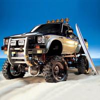 RC Mobil Remote Tamiya 1/10 Toyota Hilux High Lift 4x4 3Speed EP kit