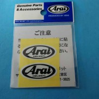 Sticker Visor Helm Arai #1595 4cm x 2cm