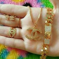 Jual set chanel ( xuping perhiasan lapis emas ) Murah