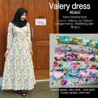 Valery dress ( long dress / gamis motif bunga)