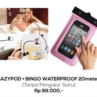 Lazy Pod Water Proof Soft Case Cover Casing Kuat Keren Clear Bening