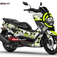Decal stiker Yamaha NMAX livery The Maniac