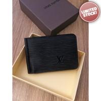 Dompet Pria Branded - Louis Vuitton Black E63 Money Clip