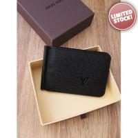 Dompet Pria Branded - Louis Vuitton Black T63 Money Clip