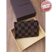 Dompet Pria Branded - Louis Vuitton Brown D63 Money Clip