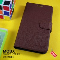 Oppo Find 5 X909 Mobx Grained Leather Flip Case Flipcase Cover