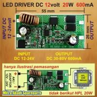 harga Led Driver Dc 12v-24v/12-24 Volt 20w/20 Watt 600 Ma Tanpa Casing Tokopedia.com