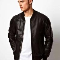Jaket Semi Kulit / PU Leather / Jaket Sintetis Varsity 1