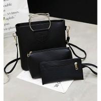Harga tas wanita warna hitam model like fossil hush puppies kuat super | WIKIPRICE INDONESIA