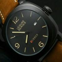 Jual Jam tangan pria digital curren 8158 casual kulit analog digitec casio Murah