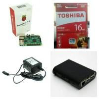 Jual Paket Raspberry Pi 3 Made in UK + Casing, Power Supply dan Micro SD Murah