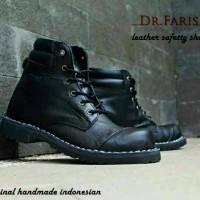 SALE Sepatu Boots Pria Original Dr. Faris 1050 Rosel Kulit Asli Safety