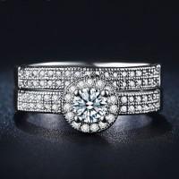 Set Cincin Berlian Imitasi Lapis Emas Putih (Perhiasan Wanita) - BR099