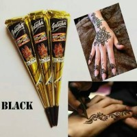 Henna Golecha Black / tato hena hitam / tatoo semi permanen
