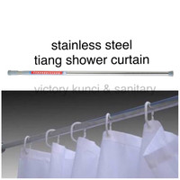 Tiang Shower Curtain / Tiang kamar mandi / Tiang tirai