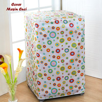 Cover Mesin Cuci Polkadot (Bahan Satin Tebal, Anti Air, Anti Panas)