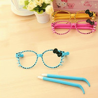 Jual Pulpen Berbentuk Kacamata Motif Hello Kitty Murah