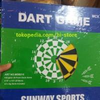 Jual TERBARU DART BOARD GAME 15INCH SUNWAY SPORT HARGA MURAH + 6 ARROW Murah