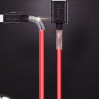 kabel data vivan FM100 kabel data spring 2,4A cable data usb original