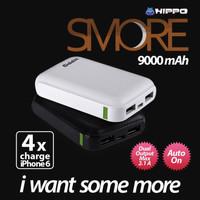 Jual power bank Hippo Smore 9000 mah powerbank original resmi Murah