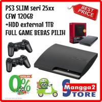 PS3 Slim CFW 120GB + HDD Ext 1TB Sony Playstation 3