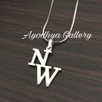 Anting/Giwang Nama Custom Lapis Emas - Perhiasan Nama