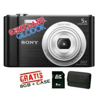 TERBARU MURAH CAMERA DIGITAL SONY DSC-W810 FREE MEMORY 8GB FREE CASE