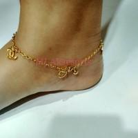 Gelang Kaki Cewek Gelang Tangan Chanel Lapis Emas Kado Ulang Tahun