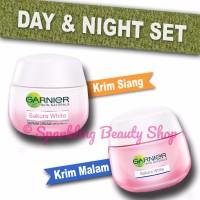 [SET] Garnier Sakura White Pinkish Radiance (Day SPF + Night Cream)