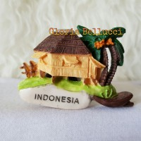 SOUVENIR TEMPELAN MAGNET KULKAS INDONESIA JAKARTA