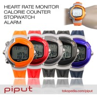 Jam Tangan Heart Rate Monitor Detak Jantung Calorie Counter Stopwatch