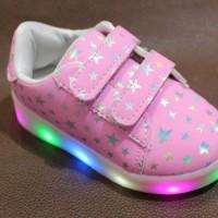 Harga daftar harga led shoes terlaris termurah pink anak | antitipu.com