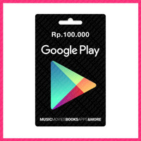 GOOGLE PLAY GIFT CARD RP. 100.000 - PRINT OUT