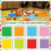 Evamat polos 30x30cm / karpet anak / alas main anak