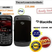 BB ARIES 8530 CDMA HITAM (Belum inject) NEW