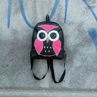 Jual tas ransel mini sintetis sablon owl / tas ransel murah Murah