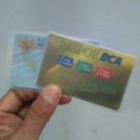Sampul cover plastik kartu ATM / kTP