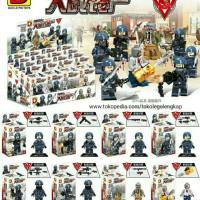 Jual lego kw minifigure army swat tentara Dlp 9039 pasukan Dlp9039 Murah