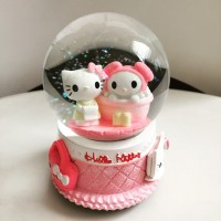 Jual Kotak Musik Snow Globe Bola Kristal Kaca Salju Lamp SK020A Hello Kitty Murah