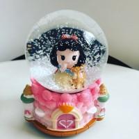 Jual Kotak Musik Snow Globe Bola Kristal Kaca Salju Lampu SK057A Snow White Murah