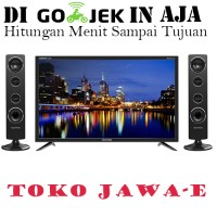 POLYTRON 32T711 LED TV Cinemax 32 Inch + Speaker Suara Menggelegar