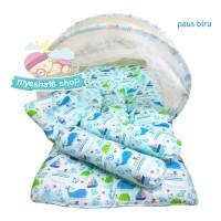 Tempat tidur bayi/ranjang bayi/Kasur bayi kelambu/Motif paus biru