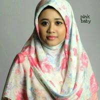 kerudung segiempat katun motif / hijab segiempat