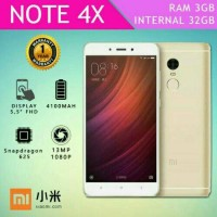 HP XIAOMI REDMI NOTE 4X RAM 3GB INTERNAL 32GB NEW 4G LTE O.S 6.0