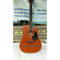 Gitar Akustik Yamaha Natural Doff Equalizer EQ 7545 FREE Tas dan Pick