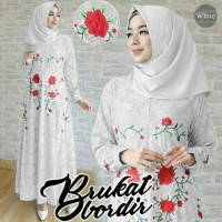 hijab brukat ladies putih