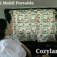 Gorden / tirai Mobil portable praktis Cozyland