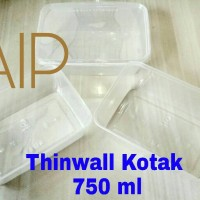 Thinwall 750 ml Food container Box kotak makanan Thinwall kotak