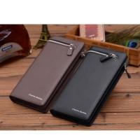 Dompet kulit pria model panjang leather mens wallet impor mewah FAP004