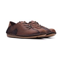 Life8 Genuine Leather Lazy Step-on Shoes Brown (3pcs)